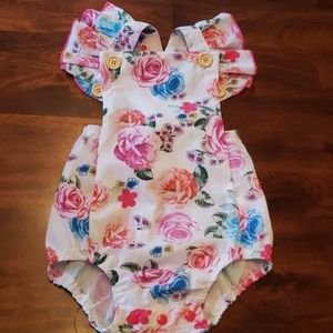 NWT Girls romper jumpsuit with headband